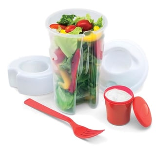 Salad-to-go Containers with Ice Chamber (Set of 2)