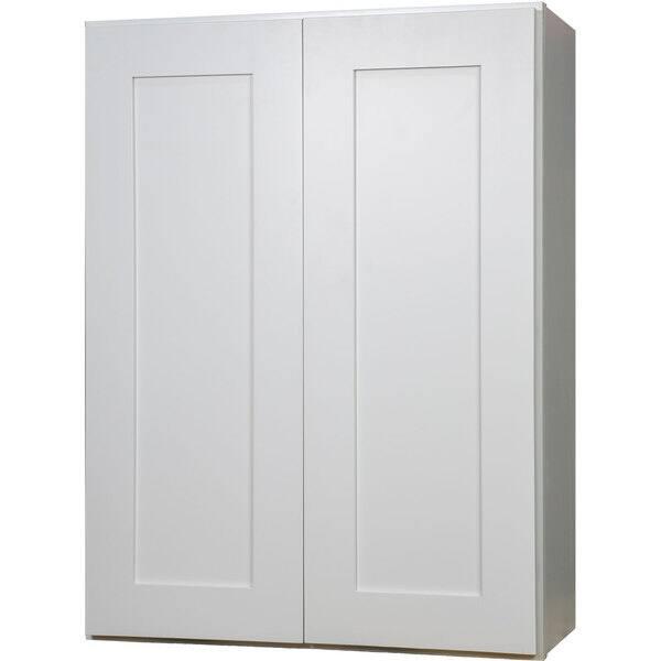 24 Inch White Shaker Double Door Wall