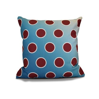 16 x 16-inch, Holiday Bubbly, Geometric Holiday Print Outdoor Pillow