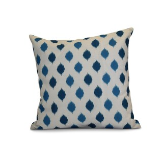 16 x 16-inch, Ikat Dot Stripes, Geometric Holiday Print Outdoor Pillow