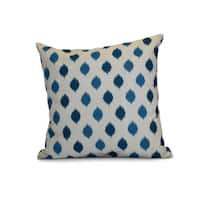 16 x 16-inch, Ikat Dot Stripes, Geometric Holiday Print Outdoor Pillow