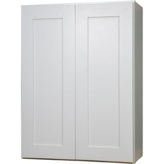 Everyday Cabinets 33-inch White Shaker Double Door Wall Kitchen Cabinet
