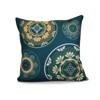 16 x 16-inch, Medallions, Geometric Print Outdoor Pillow