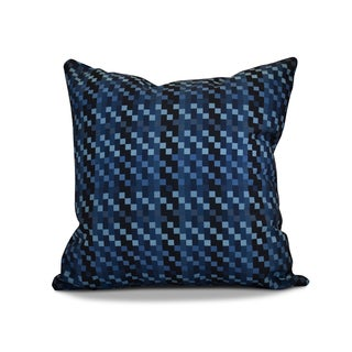 16 x 16-inch, Mad for Plaid, Geometric Print Outdoor Pillow