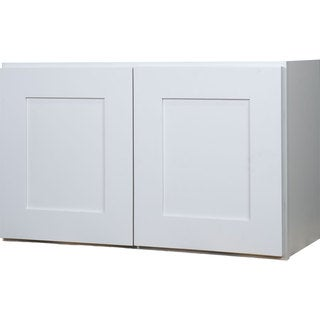 Everyday Cabinets 36-inch White Shaker Double Door Bridge Wall Kitchen Cabinet