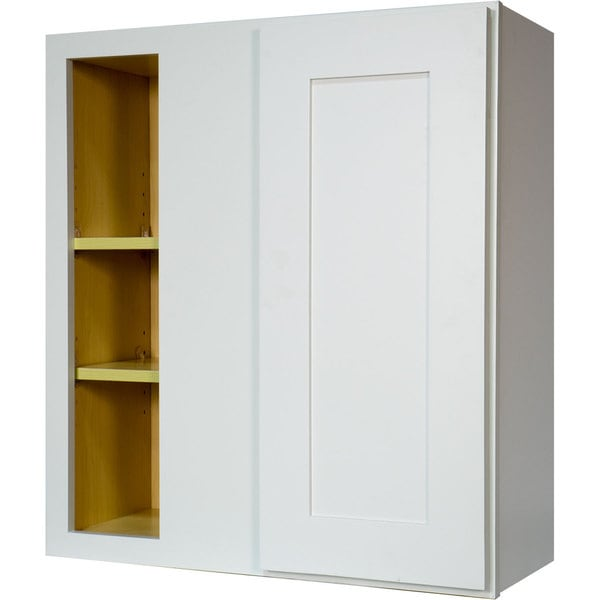 corner wall cabinet kitchen shop everyday cabinets 27 inch white shaker blind corner 14025
