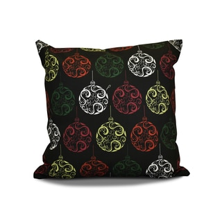 16 x 16-inch, Painterly Bulbs, Geometric Holiday Print Outdoor Pillow