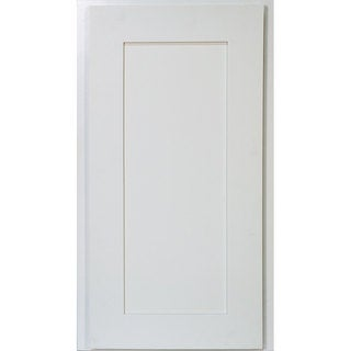 Everyday Cabinets 17-inch White Shaker Angle End Wall Kitchen Cabinet