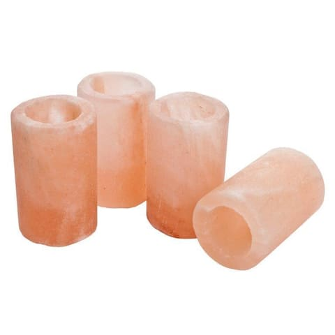 Manhattan Comfort Himalayan Salt Shot Glasses with Plastic Inserts (Pack of 4)
