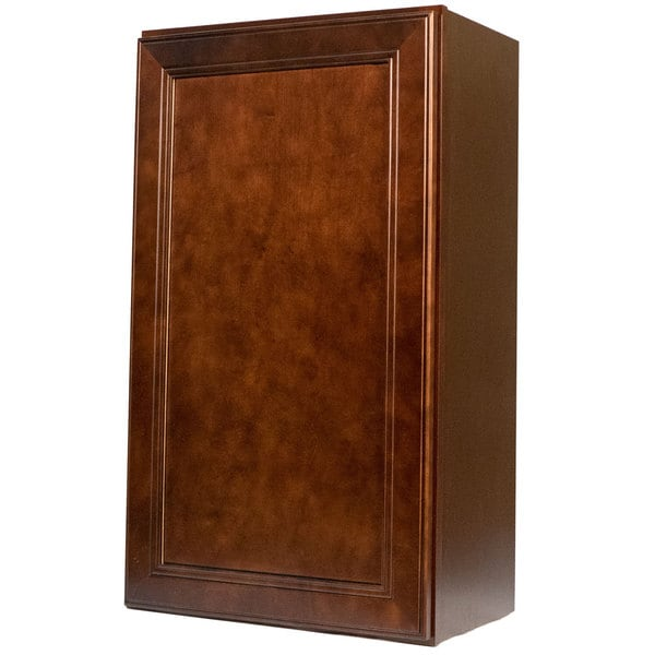 Terrific Everyday Cabinets 18 Inch Cherry Mahogany Brown Leo Saddle Single Door Wall Kitchen Cabinet Beutiful Home Inspiration Semekurdistantinfo