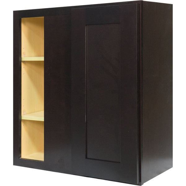 Ordinaire Everyday Cabinets 27 Inch Dark Espresso Shaker Blind Corner Wall Cabinet