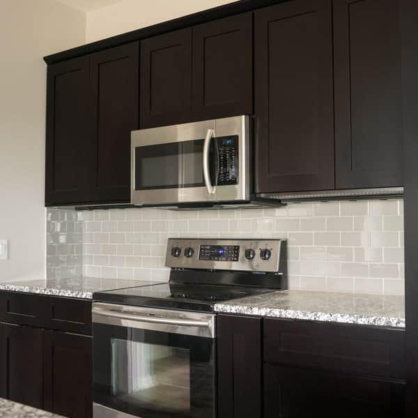 Everyday Cabinets 27 Inch Dark Espresso Shaker Blind Corner Wall Cabinet Overstock 12314950