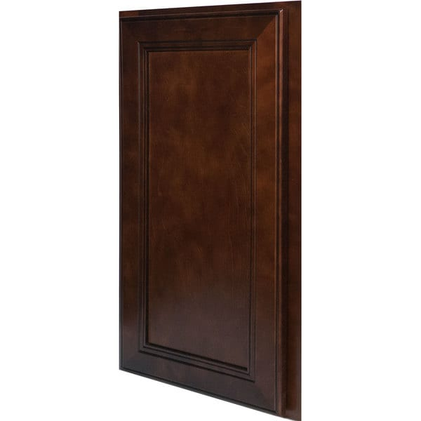 Everyday cabinets 17 inch cherry mahogany brown leo saddle for Kitchen cabinets 6 inch
