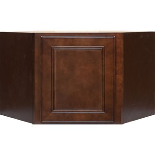 Everyday Cabinets 24-inch Cherry Mahogany Brown Leo Saddle Appliance Garage Wall Kitchen Cabinet