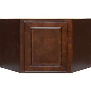 Everyday Cabinets 27-inch Cherry Mahogany Brown Leo Saddle Appliance Garage Wall Kitchen Cabinet