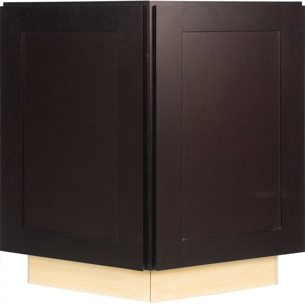Shop Everyday Cabinets 24-inch Dark Espresso Shaker End