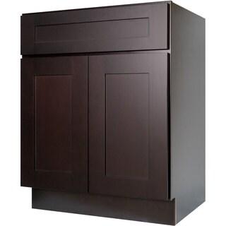 Everyday Cabinets 24-inch Dark Espresso Shaker Base Kitchen Cabinet