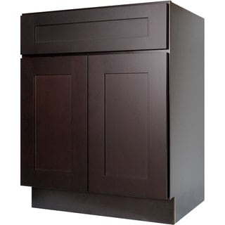 Everyday Cabinets 30-inch Dark Espresso Shaker Base Kitchen Cabinet