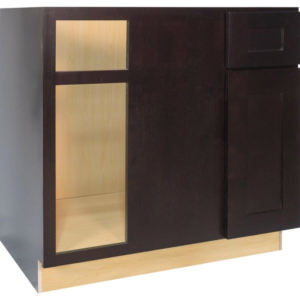 Everyday cabinets 36 inch dark espresso shaker blind for Kitchen cabinets 36 inch