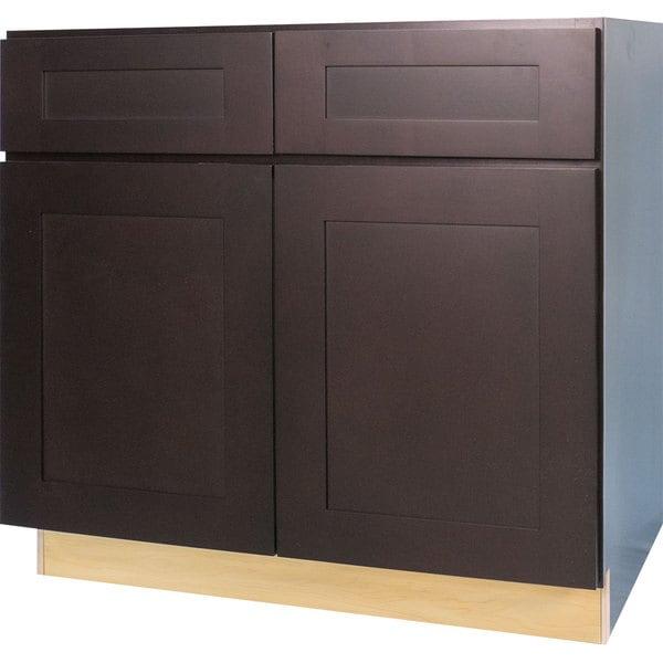 Shop Everyday Cabinets 36-inch Dark Espresso Shaker Sink