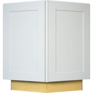 Everyday Cabinets 24-inch White Shaker End Angle Kitchen Cabinet