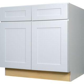 Everyday Cabinets 36-inch White Shaker Base Kitchen Cabinet