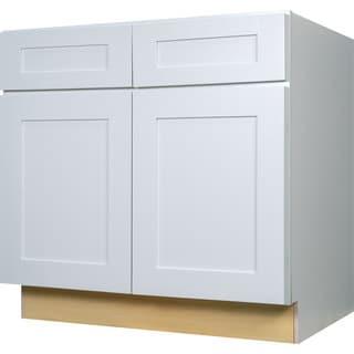 Everyday Cabinets 36-inch White Shaker Base Kitchen Cabinet