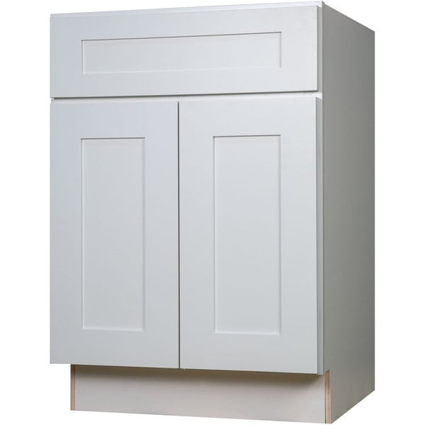 Shop Everyday Cabinets 27 Inch White Shaker Base Kitchen Cabinet