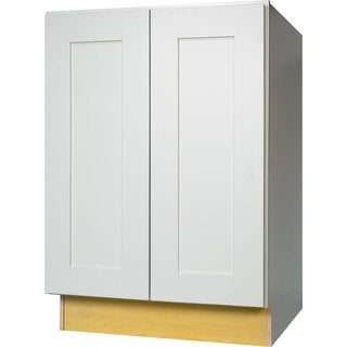 Everyday Cabinets 24-inch White Shaker Full Height Door Base Kitchen Cabinet