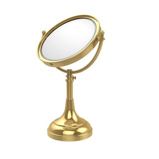 Allied Brass Height Adjustable 8 Inch Vanity Top Make-Up Mirror 2X Magnification