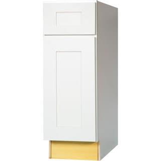 Everyday Cabinets 12-inch White Shaker Base Kitchen Cabinet