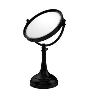 Allied Brass Height Adjustable 8 Inch Vanity Top Make-Up Mirror 3X Magnification