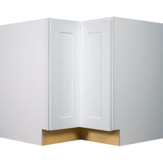 Everyday Cabinets 36-inch White Shaker Lazy Susan Base Kitchen Cabinet