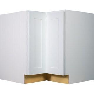 Everyday Cabinets 33-inch White Shaker Lazy Susan Base Kitchen Cabinet