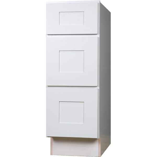 21 Inch White Shaker 3 Drawer Base