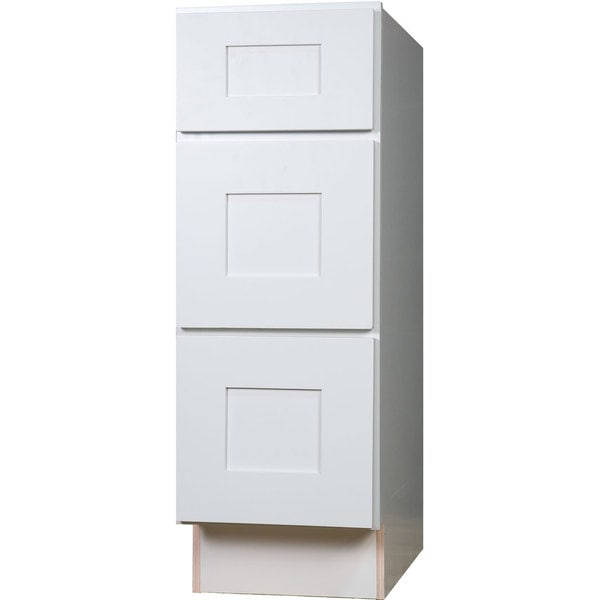 3 inch kitchen cabinets everyday cabinets 15 inch white shaker 3 drawer base 10172