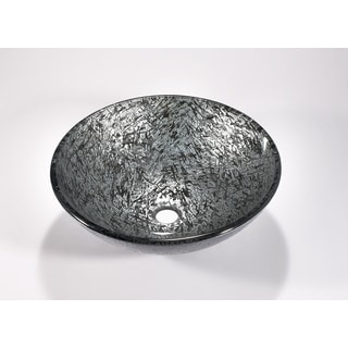 Legion Furniture Silver and Black Nickel Vessel Sink Bowl