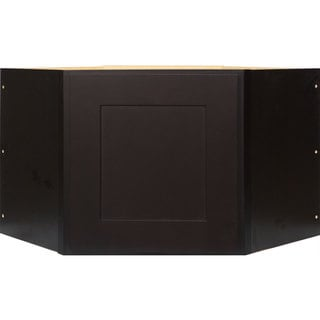 Everyday Cabinets 27-inch Dark Espresso Shaker Appliance Garage Wall Cabinet