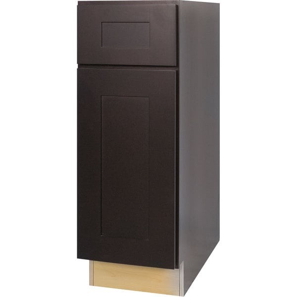 10 Inch Kitchen Cabinet Of Everyday Cabinets 12 Inch Dark Espresso Shaker Base