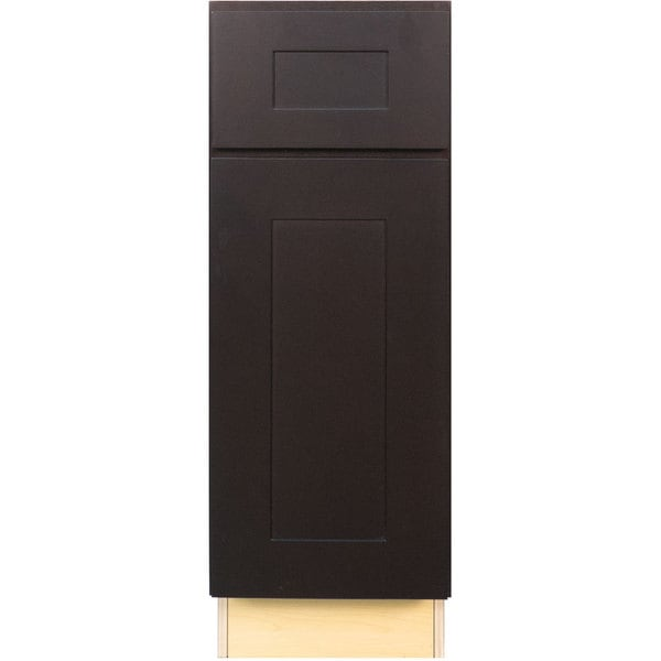 Everyday Cabinets 15 Inch Dark Espresso Shaker Base Kitchen Cabinet Free Shipping Today