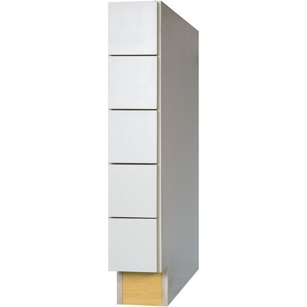 everyday cabinets 6 inch white shaker base spice 5 drawer