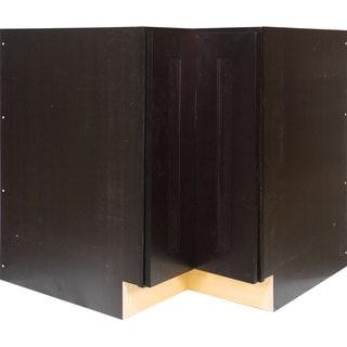 Everyday Cabinets 36-inch Dark Espresso Shaker Lazy Susan Base Kitchen Cabinet