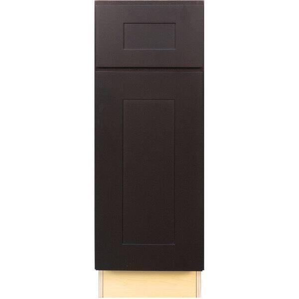 Everyday Cabinets 18 Inch Dark Espresso Shaker Base Kitchen Cabinet Overstock 12315278