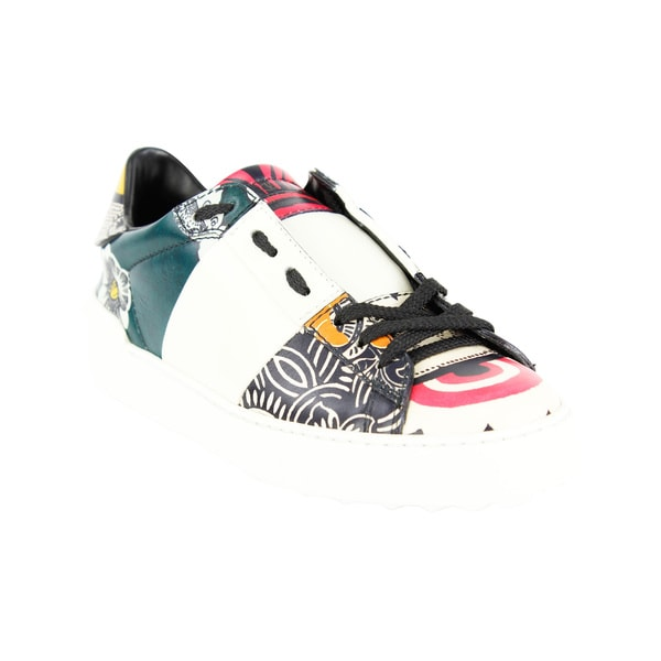 6859bc3e2c7 Shop Valentino Garavani Women's Multicolor Leather Fashion Sneakers ...