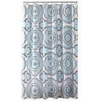 Bath Bliss Mandala Design PEVA Shower Curtain in Blue & Green