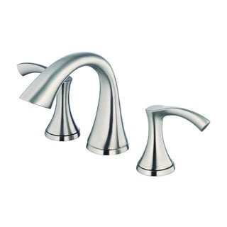 Danze Antioch 2H Mini-Widespread Lavatory Faucet w/ 50/50 Touch Down Drain 1 2gpm Brushed Nickel D304122BN
