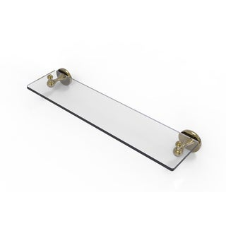 """Allied Brass Shadwell Collection 22 Inch Glass Vanity Shelf with Beveled Edges - 6""""D x 22""""L x 2.5""""H"""