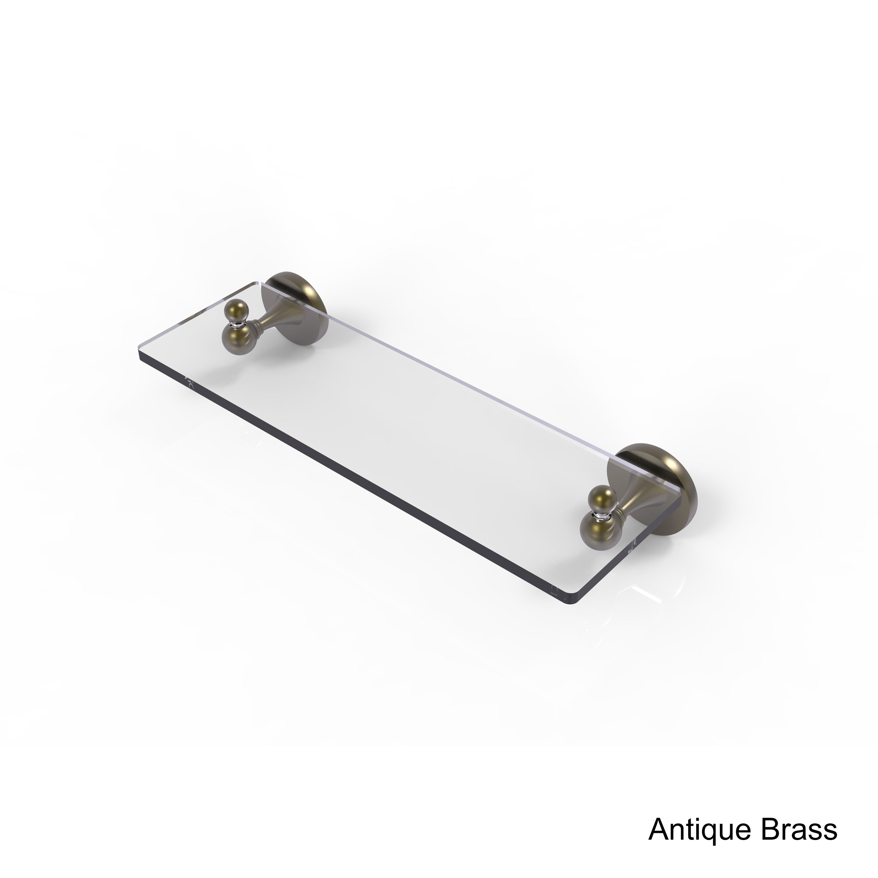 Allied Brass Shadwell Collection 16-inch Glass Vanity Shelf With ...