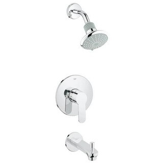 Grohe Eurostyle Tub and Shower Faucet 35025002 Starlight Chrome