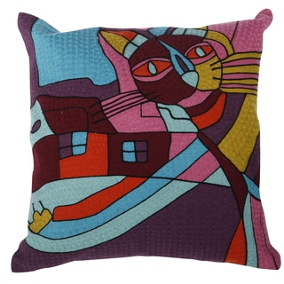 18-inch Embroidered Throw Pillow